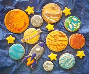 Custom Handmade Solar System Sugar Cookies