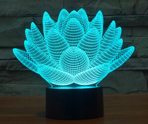 Lotus 3D LED Desk Lamp