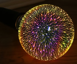 3D Fireworks Light Bulb
