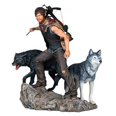 Daryl & The Wolves Statue