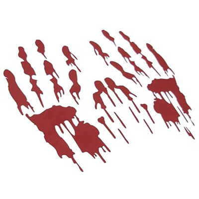 Bloody Hand Car Stickers