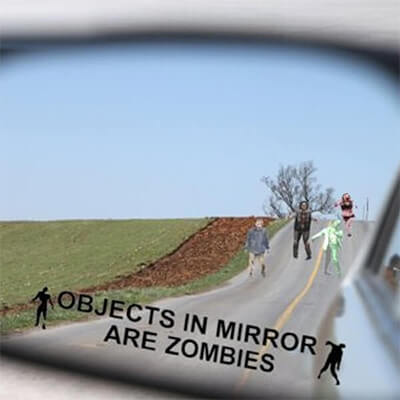 Zombie Car Mirror Sticker
