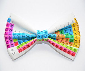 periodic table fashion bow tie - Periodic Table Of Elements Gifts