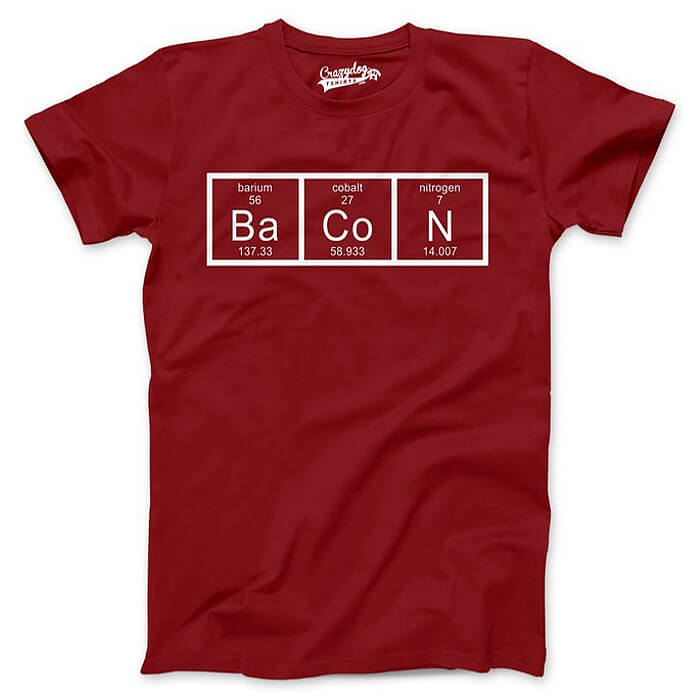 The Chemistry Of Bacon Shirt