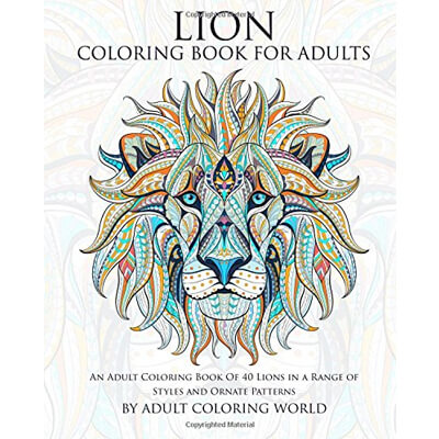 Lion Adult Coloring Book