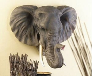Lifelike Elephant Wall Plaque