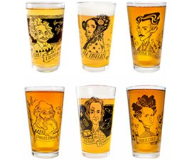 Heroes of Science Pint Glasses