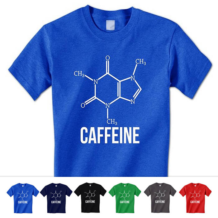 Caffeine Coffee Molecule Shirt