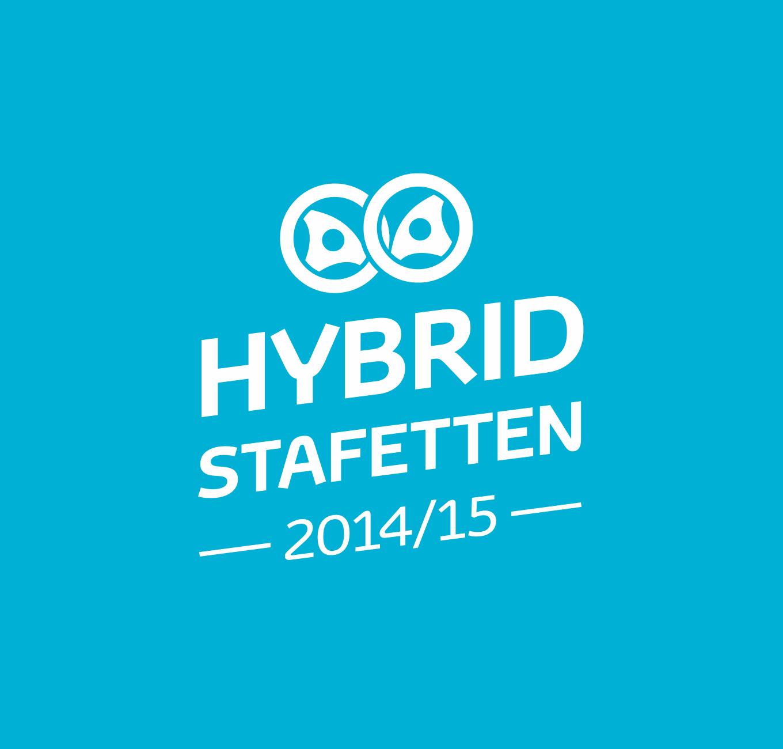 Logotyp för Hybridstafetten 2014 och 2015.