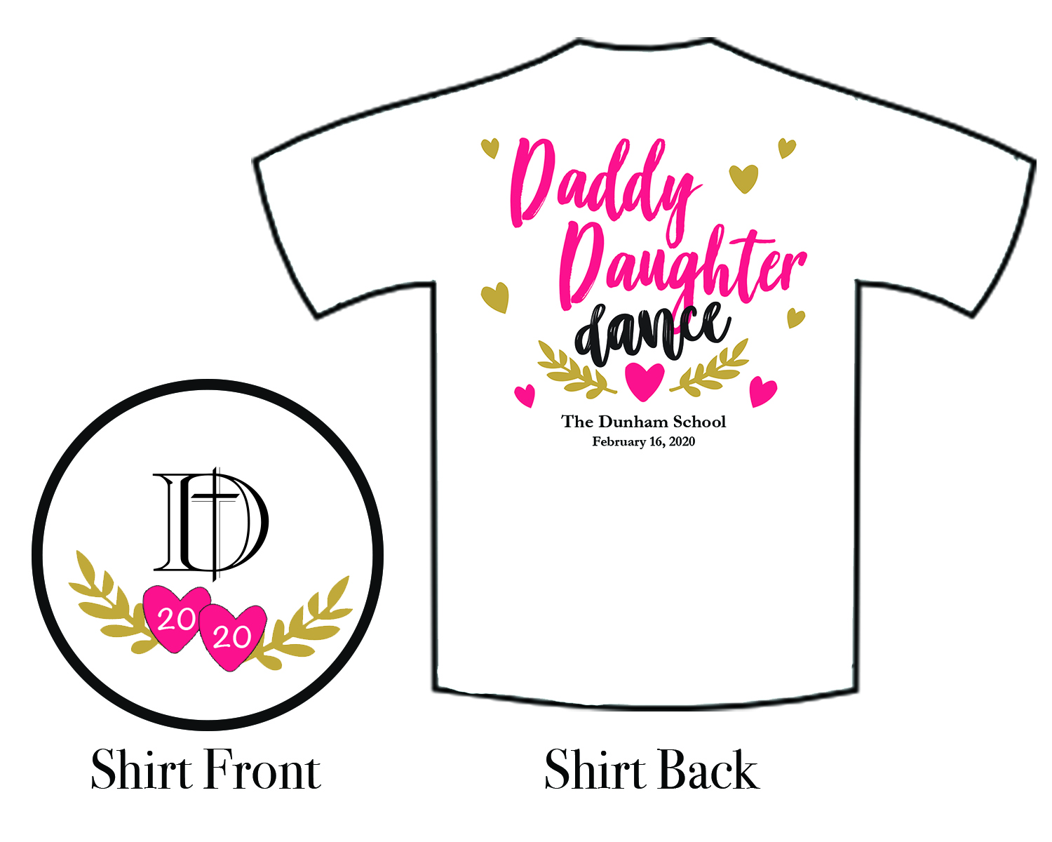 2020 Daddy Daughter Dance T-shirt image