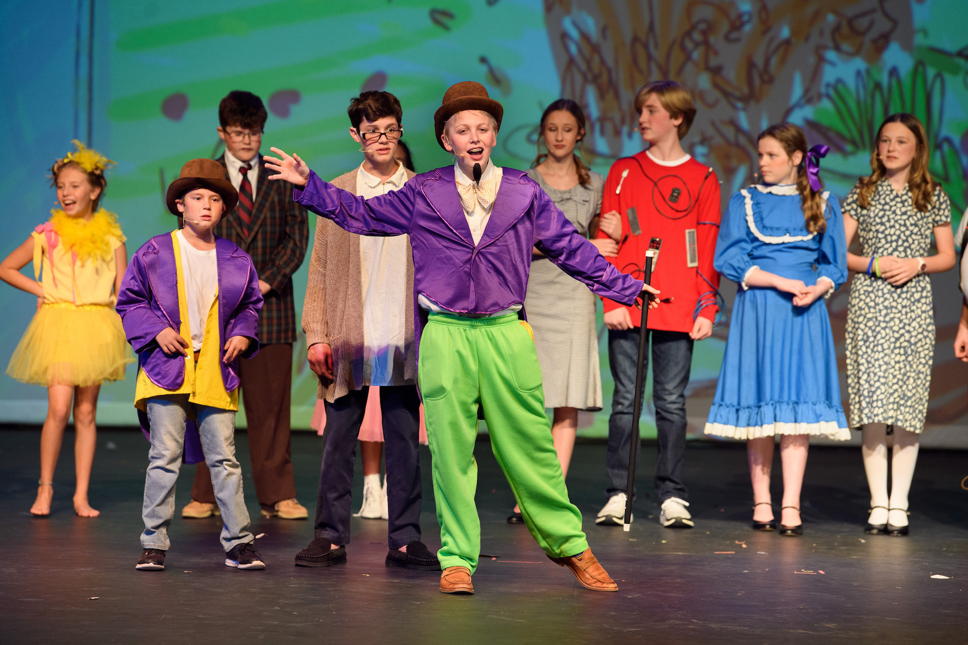 Willy Wonka Jr. Dunham School cast