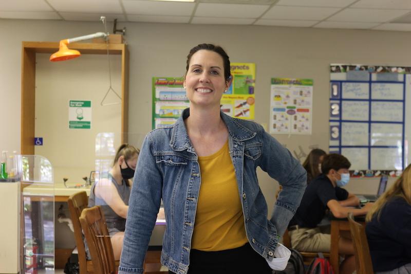 Dunham School Science Teacher Jessica Shelton