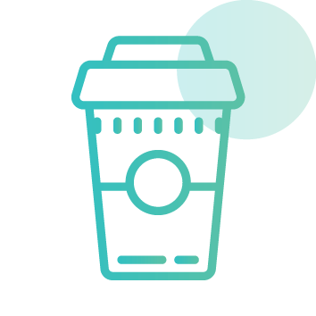 Drinking plenty of caffeine at Neon Hive