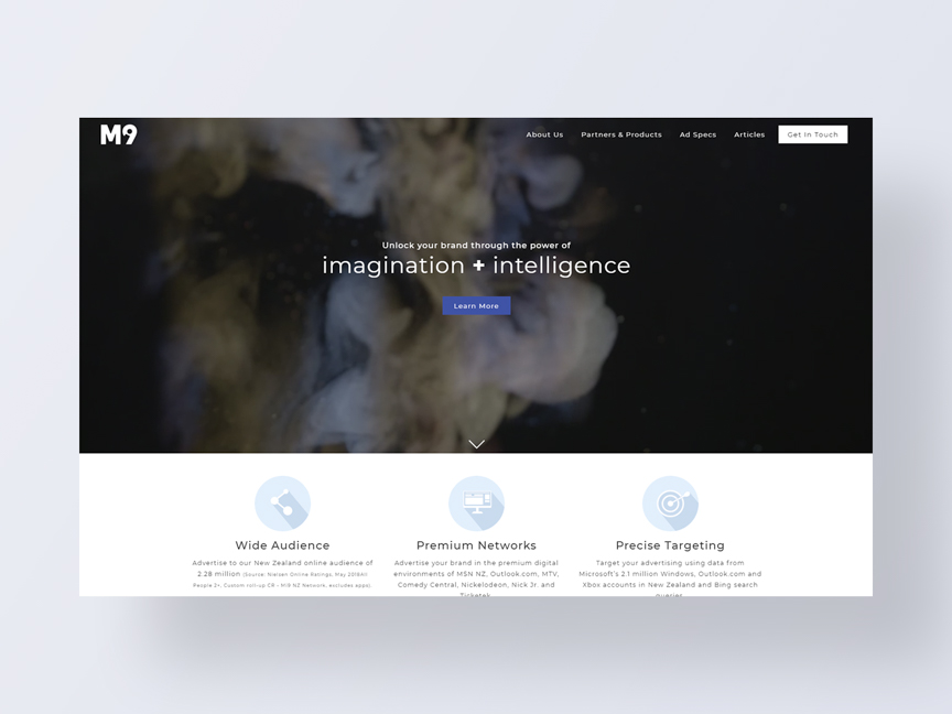 Mi9 NZ's new website designed and developed by Neon Hive