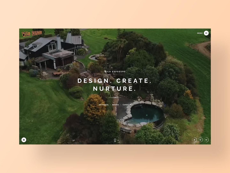 Wild Exposure Website Design by Neon Hive