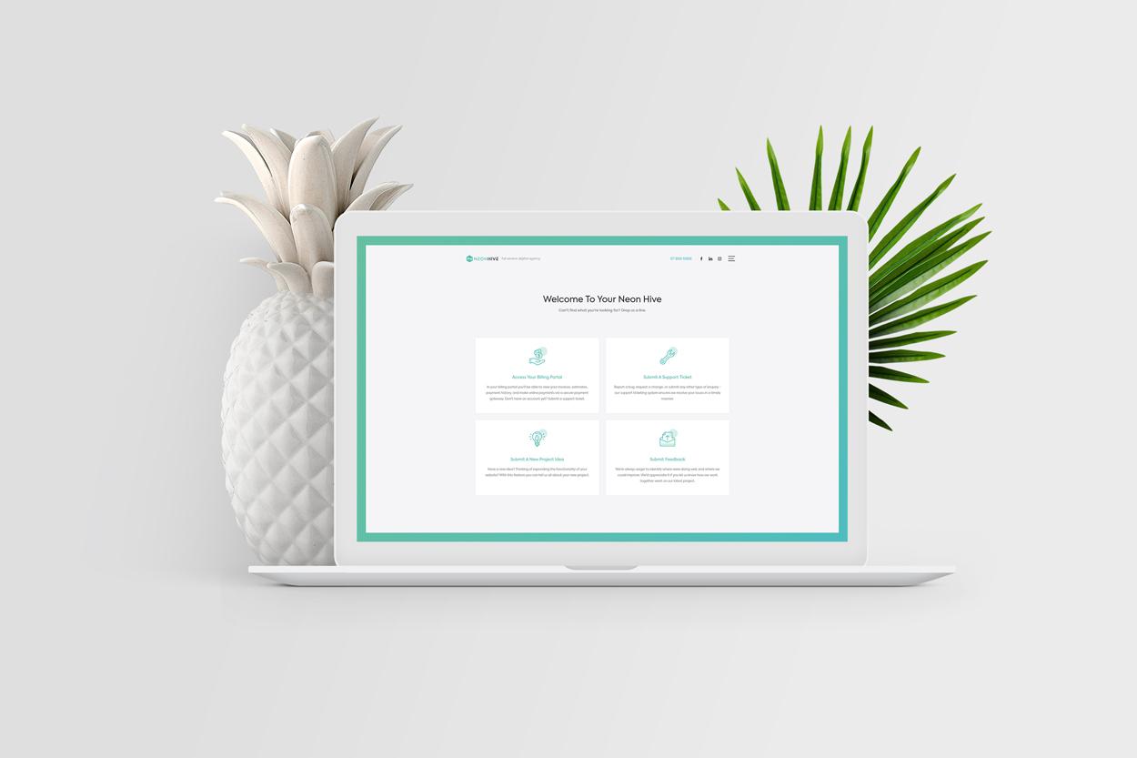 Neon Hive Client Portal