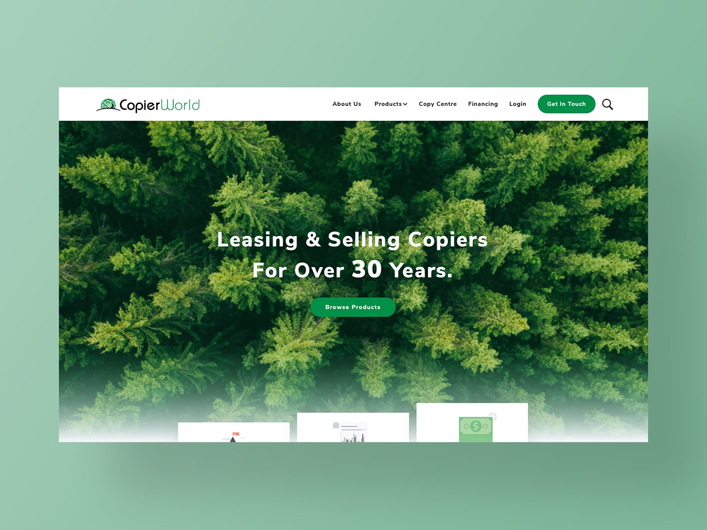 Copier Worlds new website designed and developed by Neon Hive
