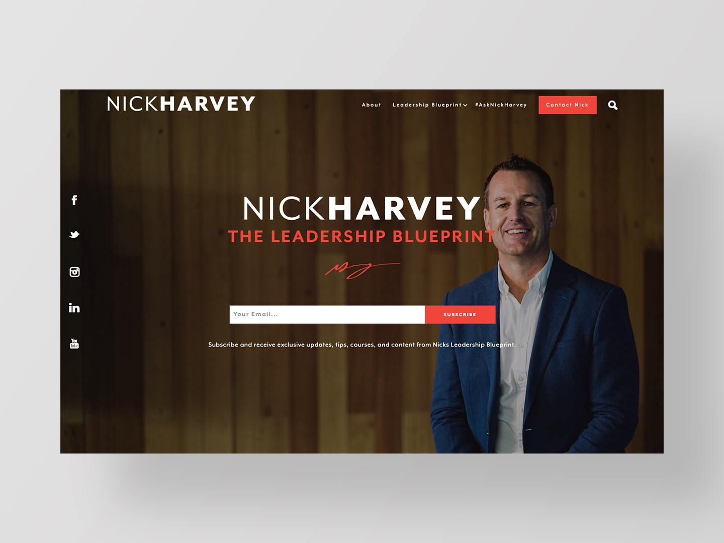 Nick Harvey's new website designed and developed by Neon Hive
