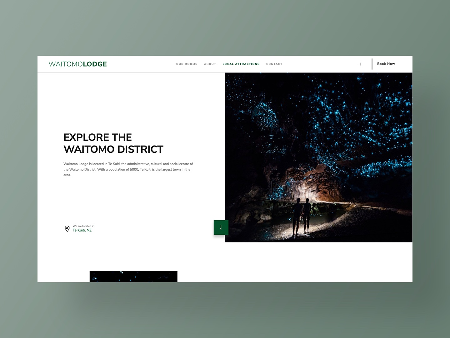 Waitomo Lodge - Website Design by Neon Hive