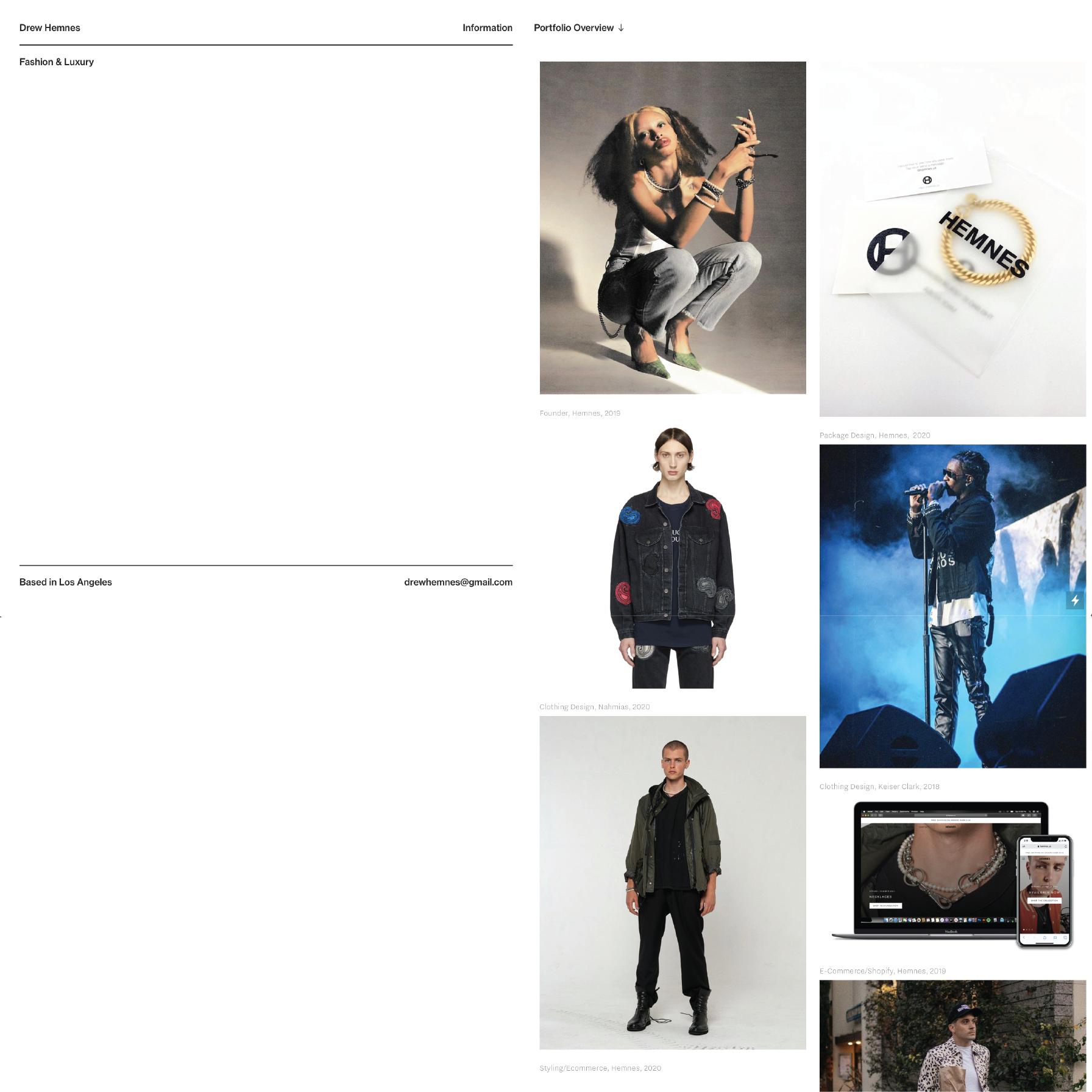 drewhemnes.com - Website Design