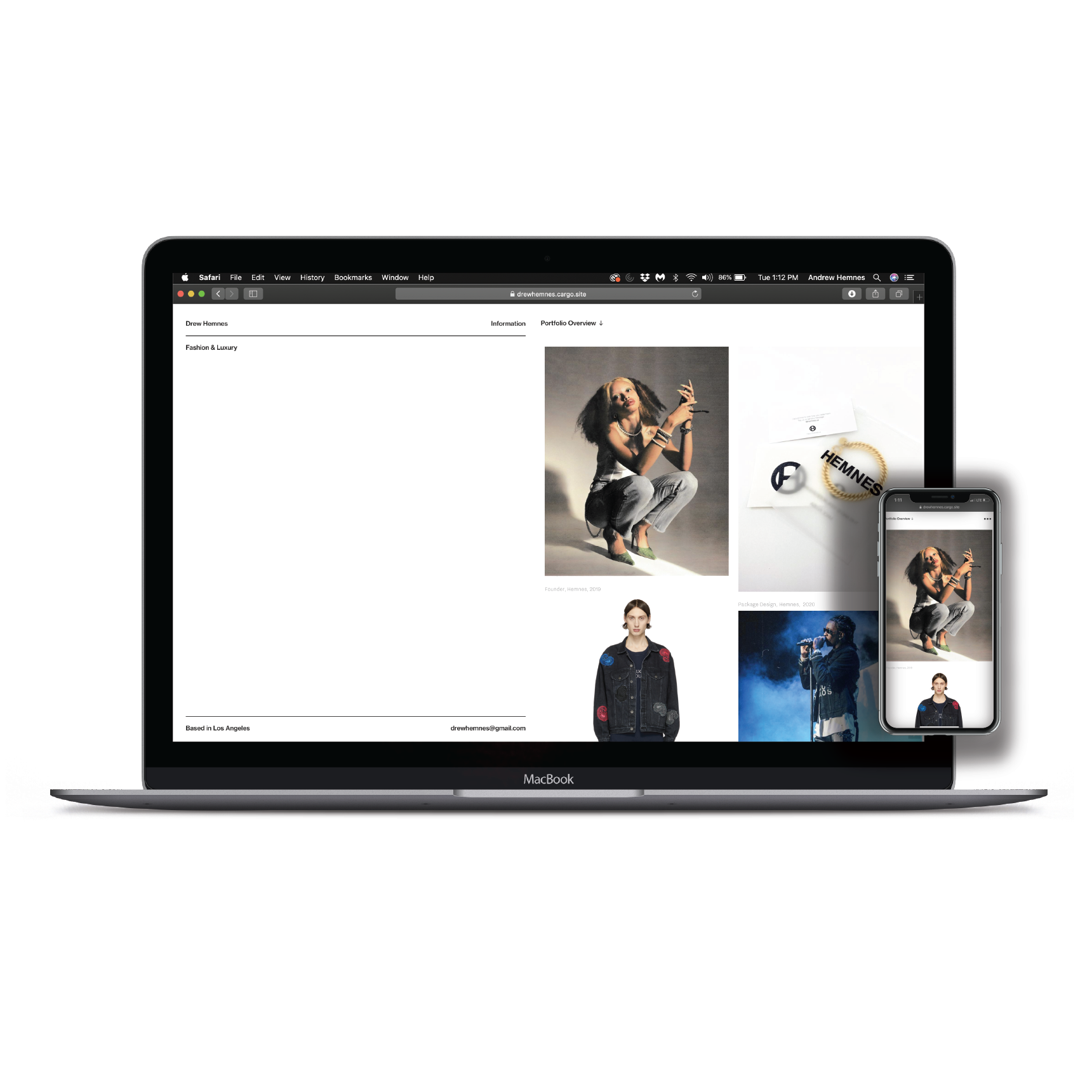 drewhemnes.com - Web Design & UX/UI
