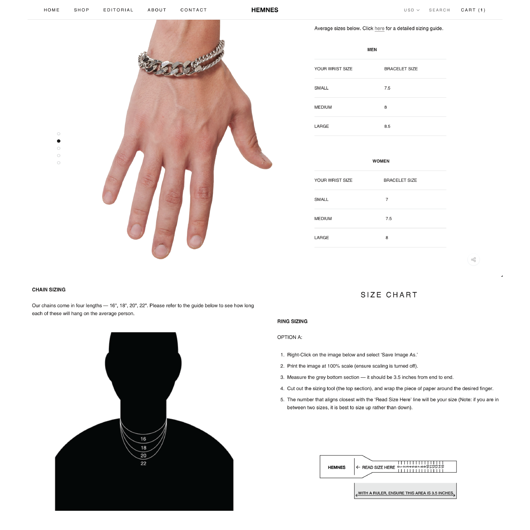 Hemnes.us customers can easily determine their ideal jewelry sizing using a unisex necklace size reference illustration, a printable ring sizing tool, and an average bracelet size chart for both men and women.