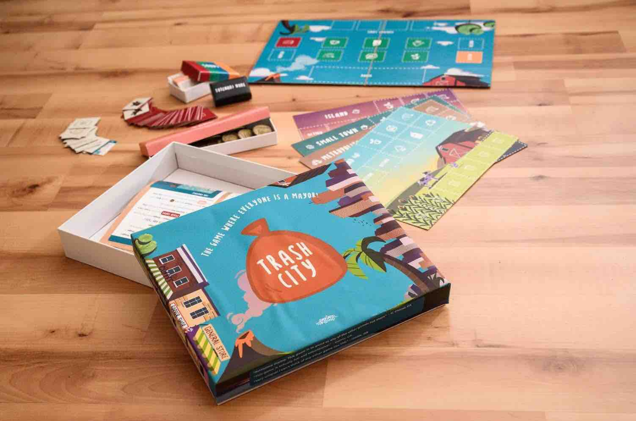 trash city board game final prototype