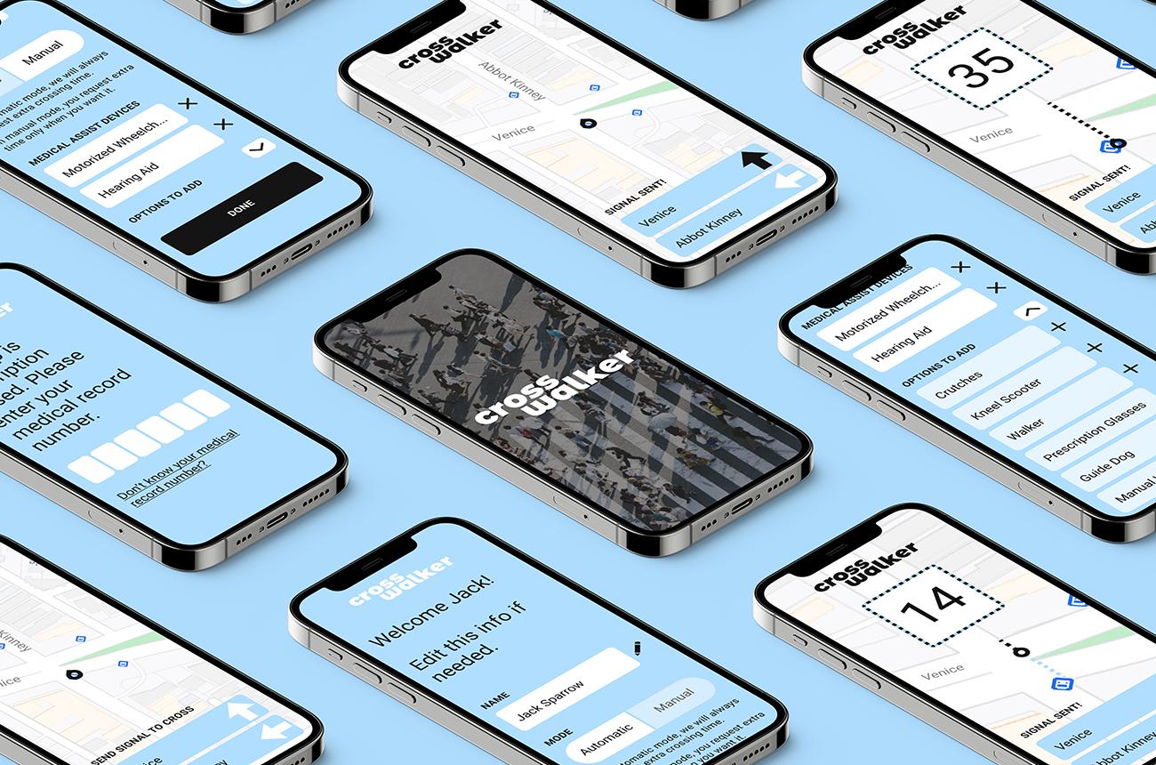 Crosswalker mobile app design