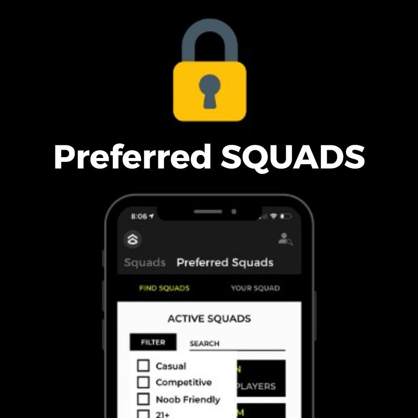 Preferred SQUADS lock and concept screen.