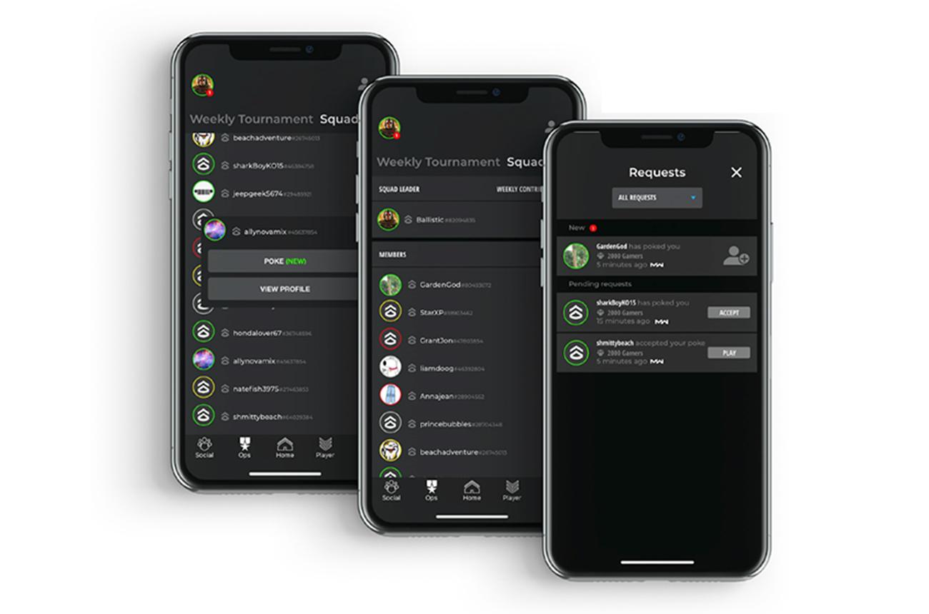 UI Prototype screens