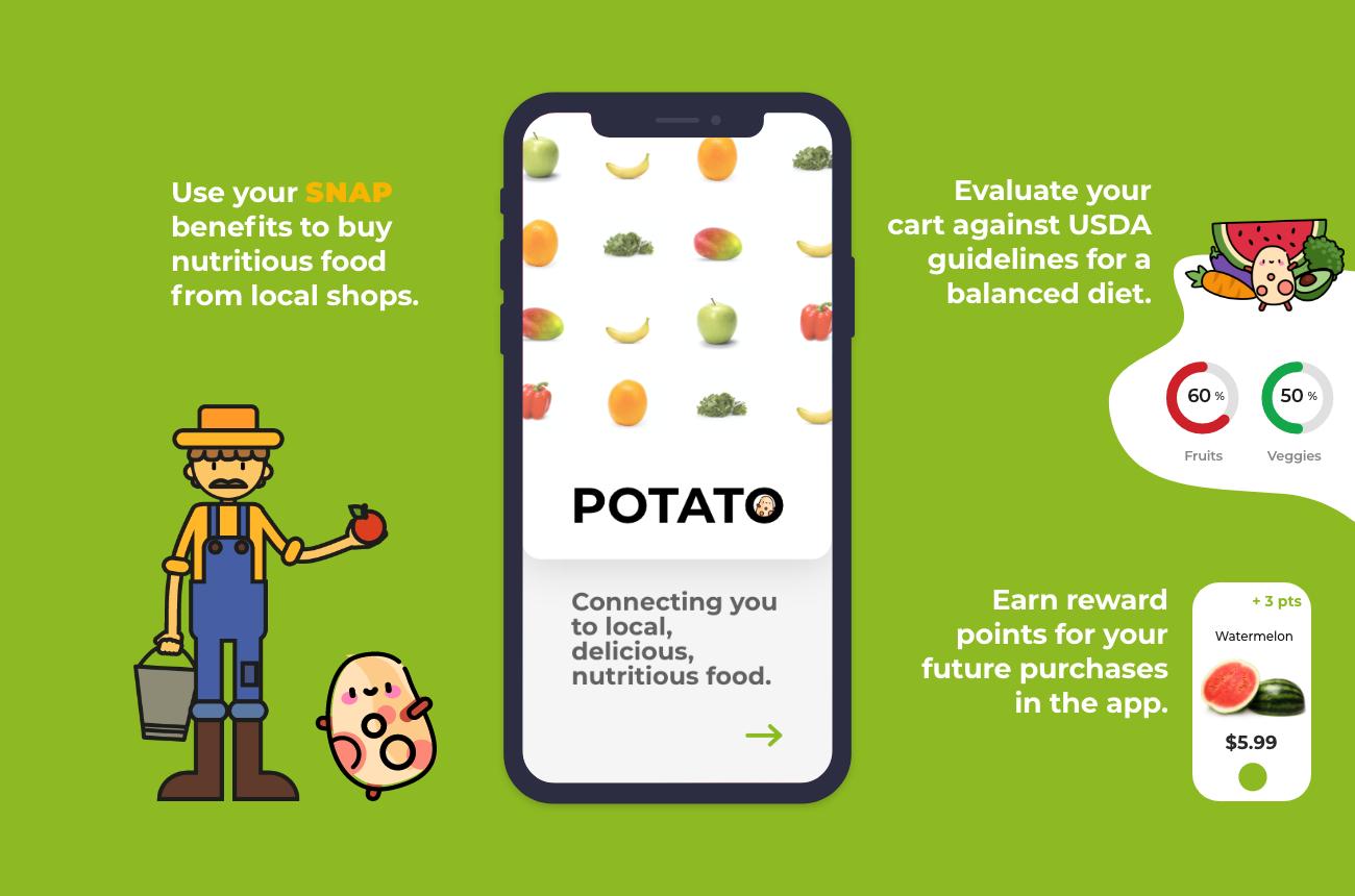 App launch screen on smart phone.