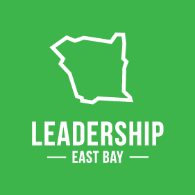 Leadership East Bay Logo Shaped From The City's Outer Shape