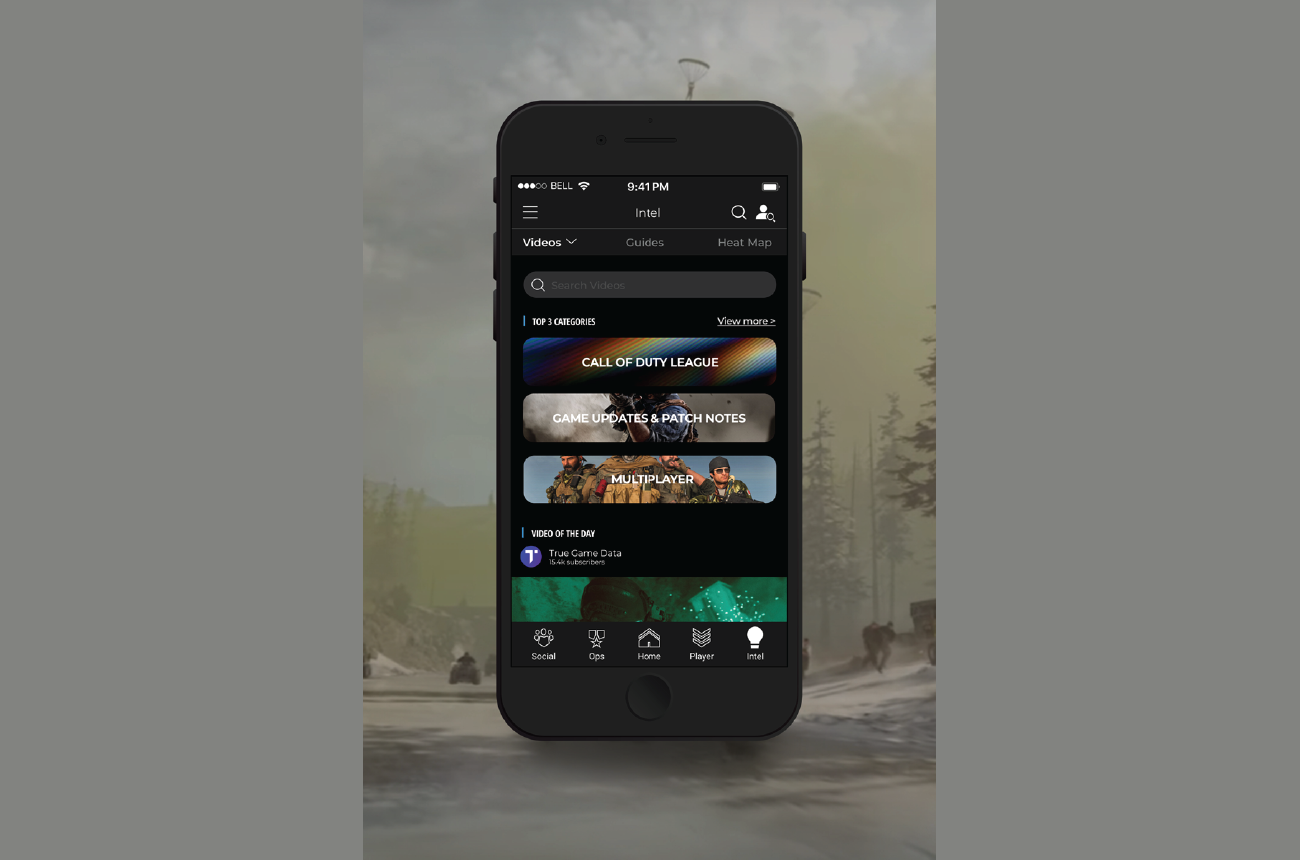 Video feature concept in the companion app.