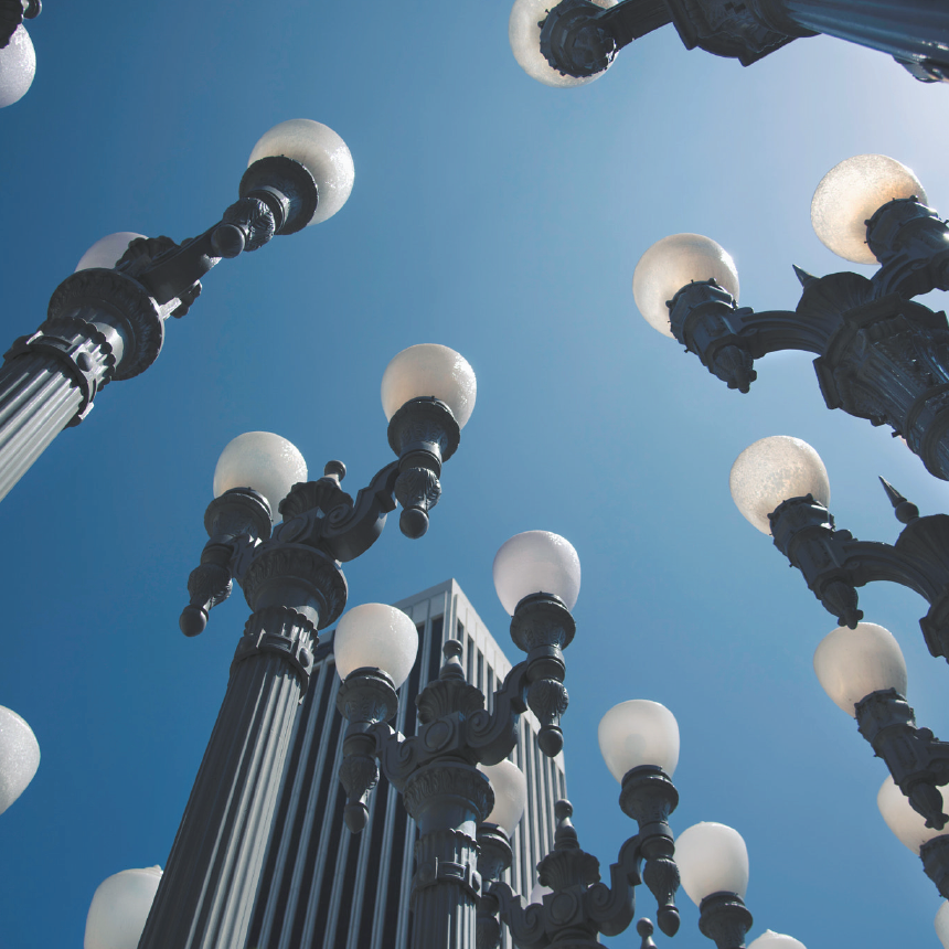 Picture of the Urban Lights sculpture.