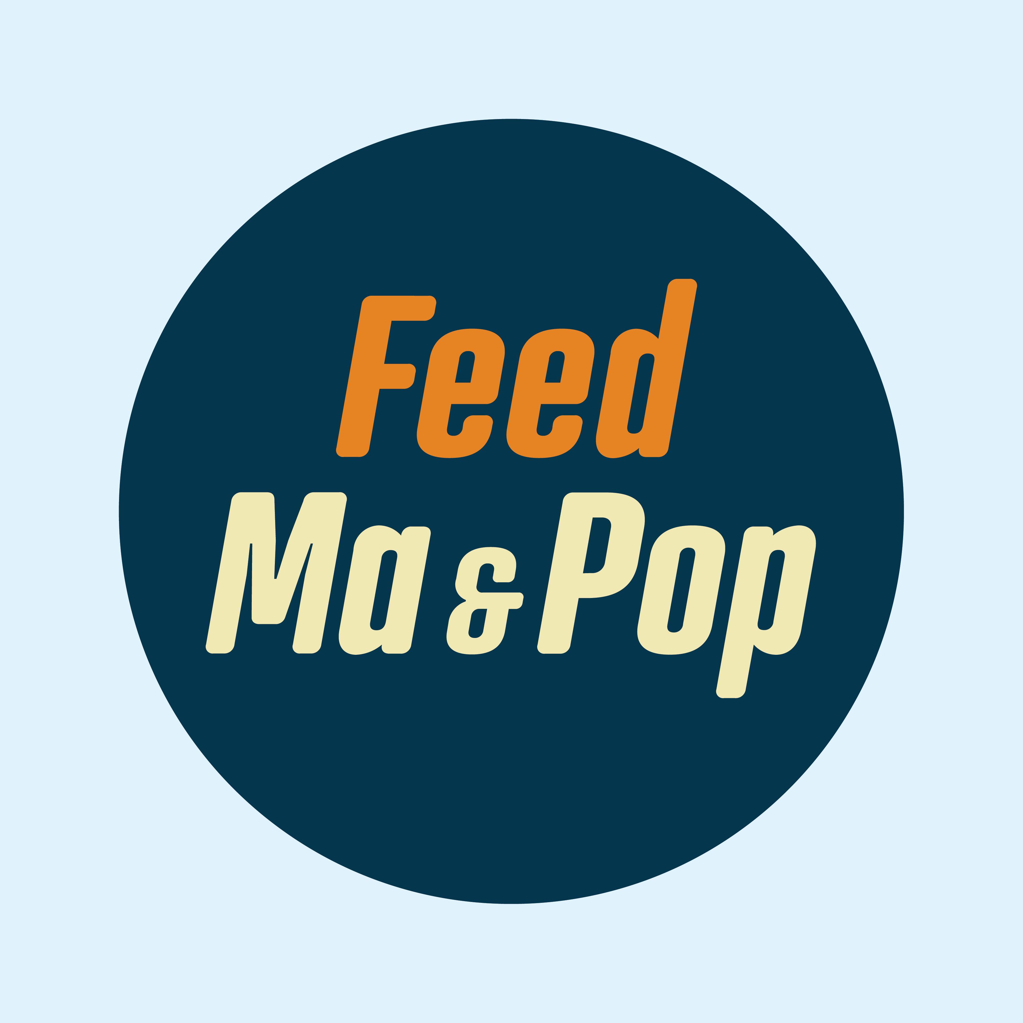 Feed Ma & Pop logo and a few screen designs