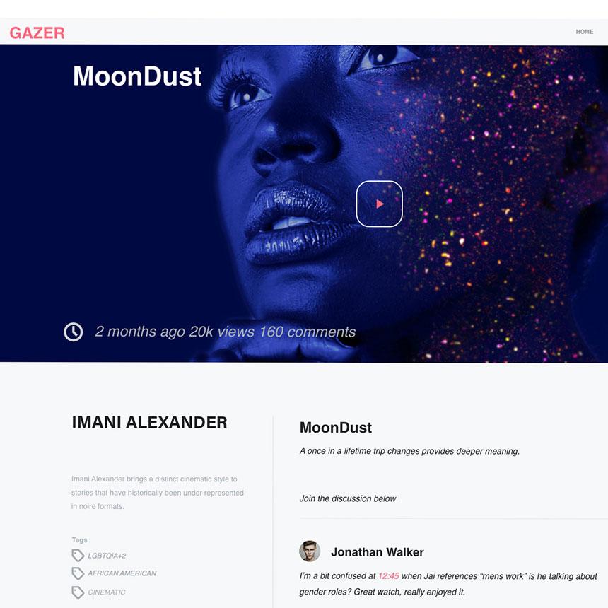 Artist profile from Gazer website