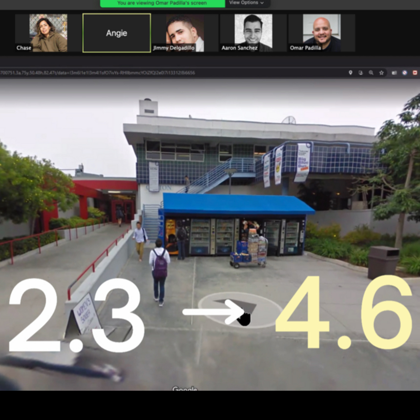 Positive average confidence level increases when testing first generation students that have never attended Santa Monica college, through a virtual experience using google maps and zoom.