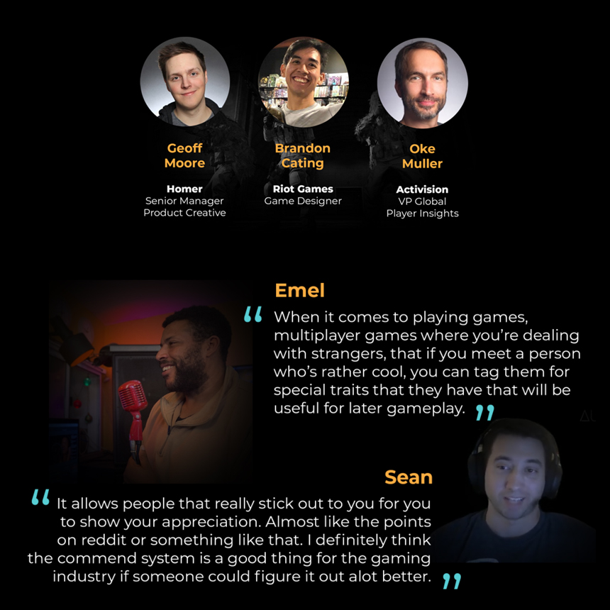Interviewed domain experts and other players in order to help with direction.