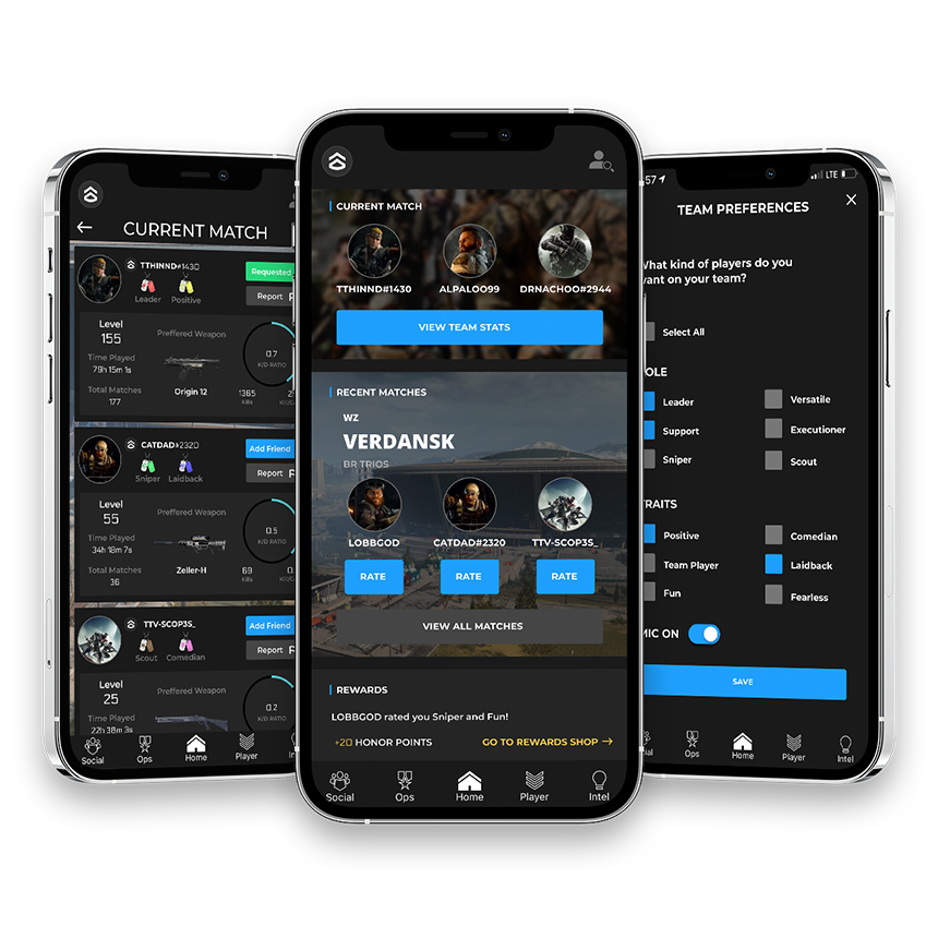COD Companion app the commend system player roles and team preferences