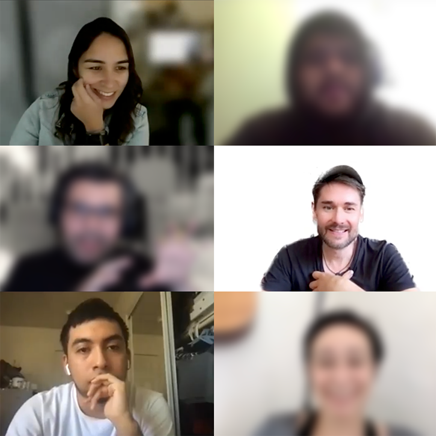 Zoom interviews with college students and faculty/staff