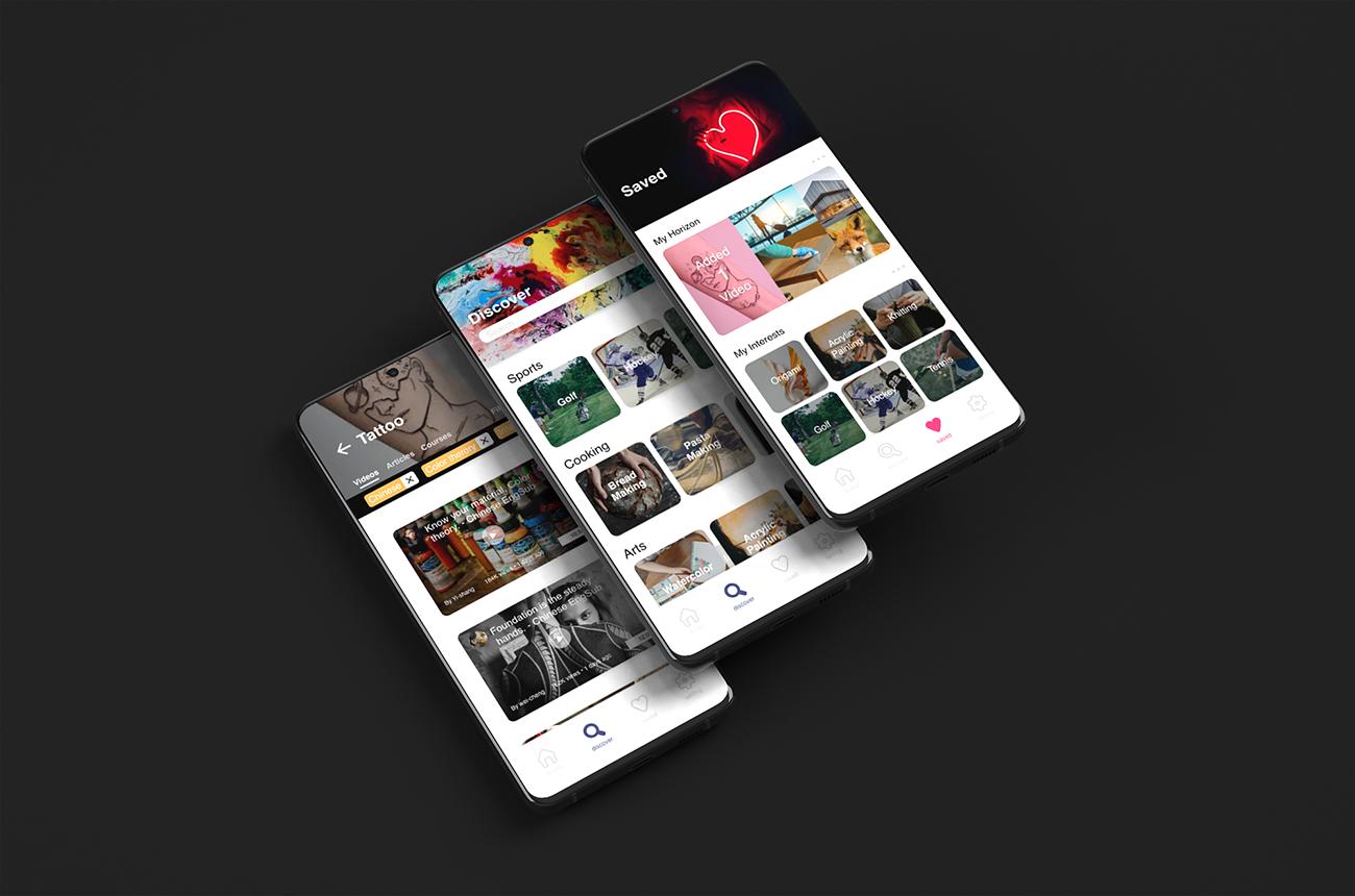Horizon app screens