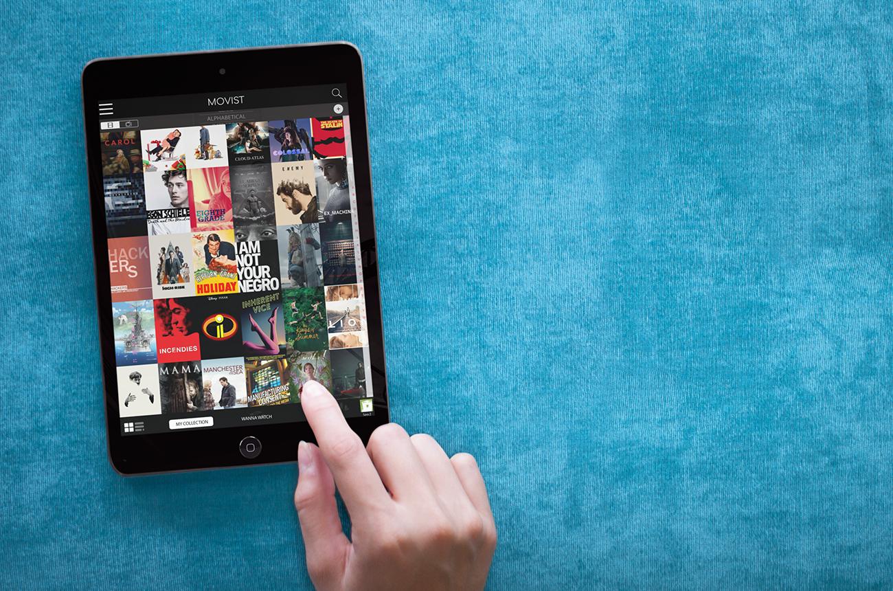 Movist app home screen