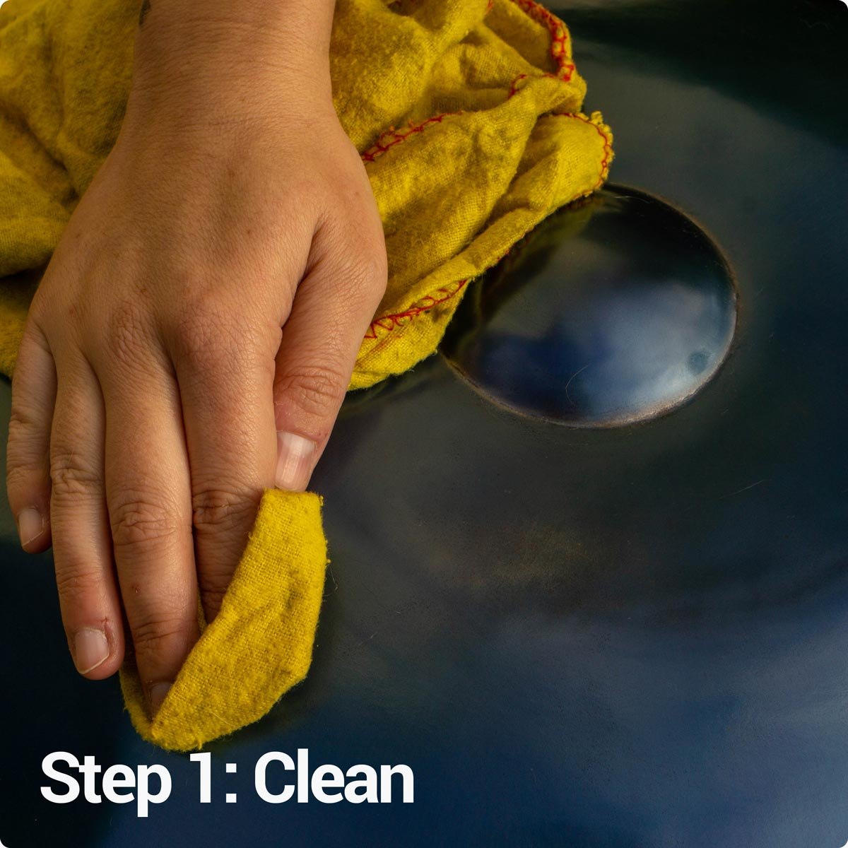Step 1: Clean your handpan