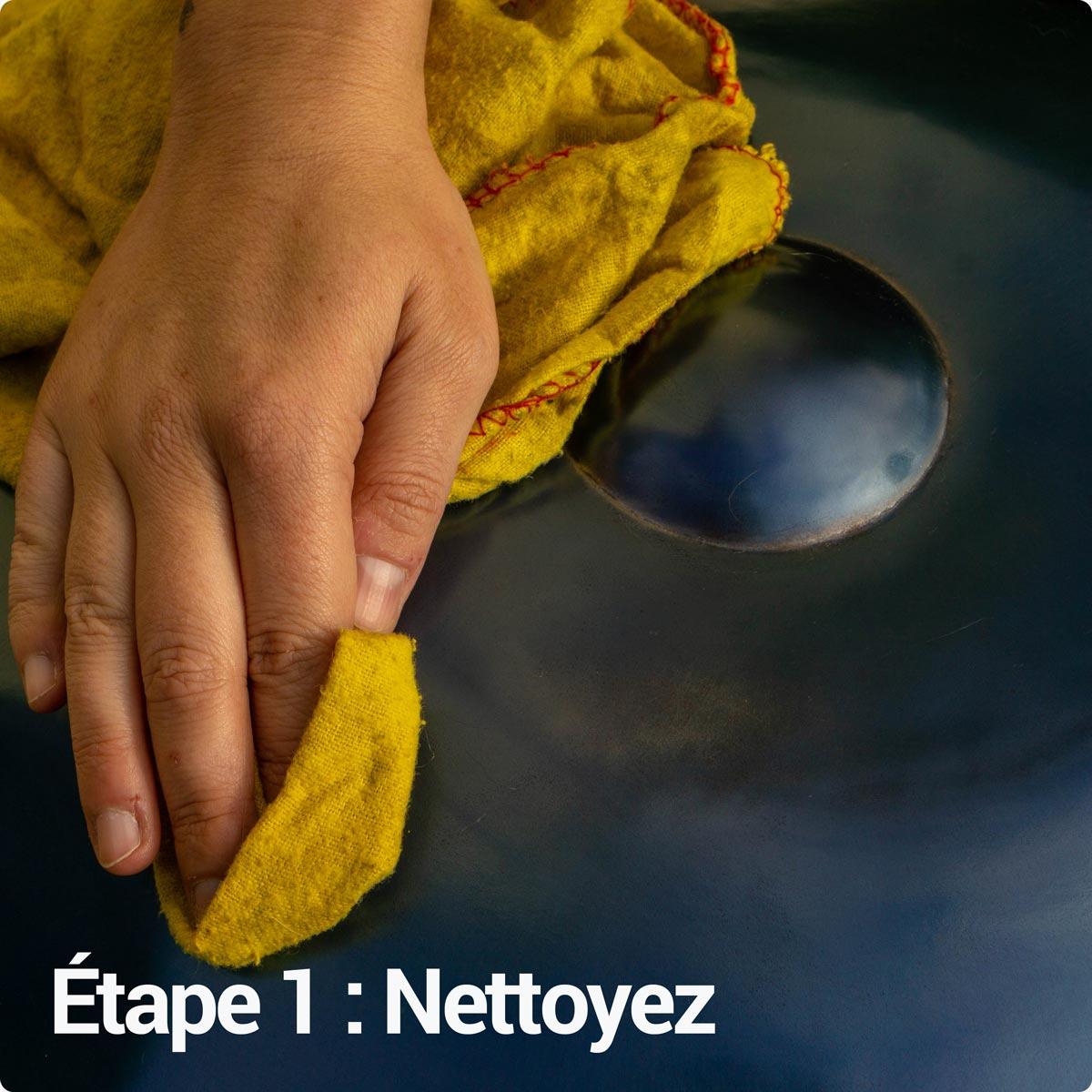 Nettoyez votre handpan