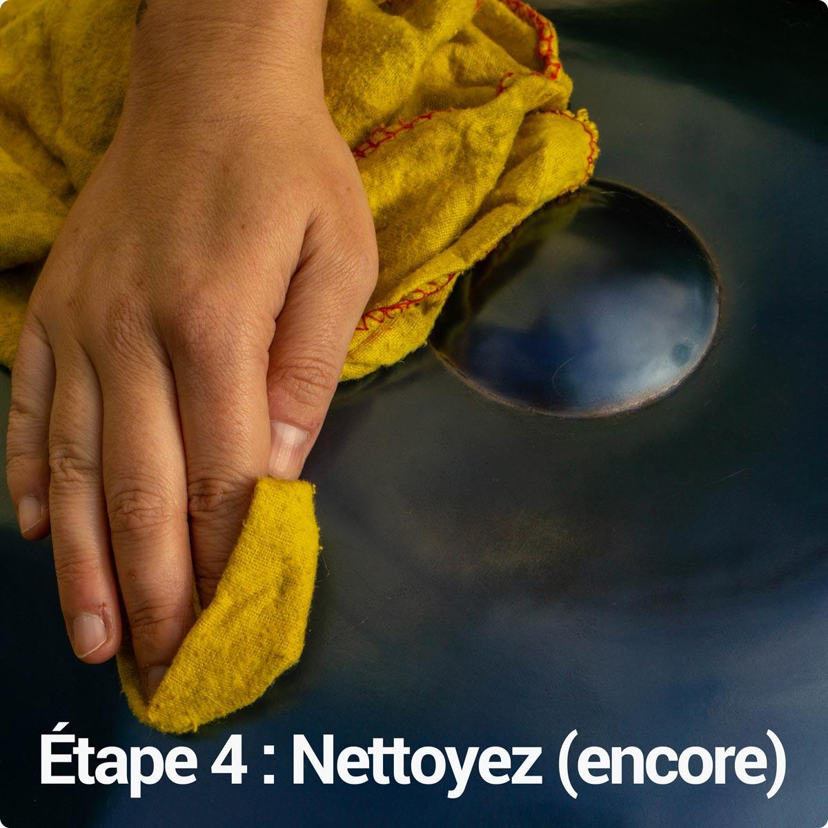 Nettoyez à nouveau votre handpan