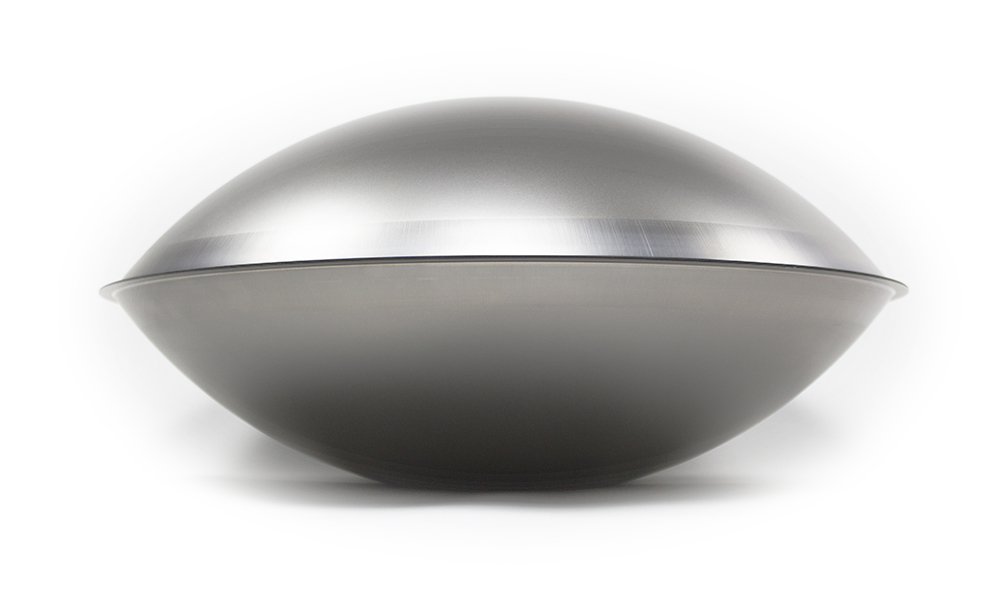 Handpan is made of two convex (domed) shells glued together