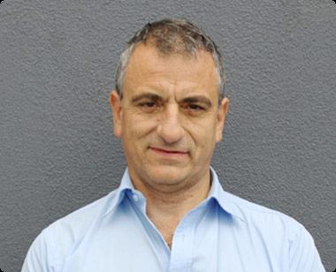 Front facing portrait photo of Sam Sfindilis