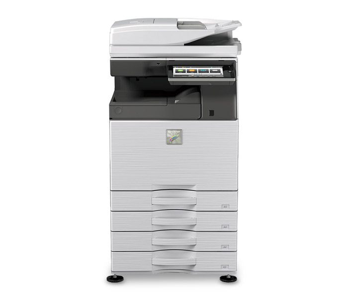 Image of a new colour photocopier which is a photocopier for office