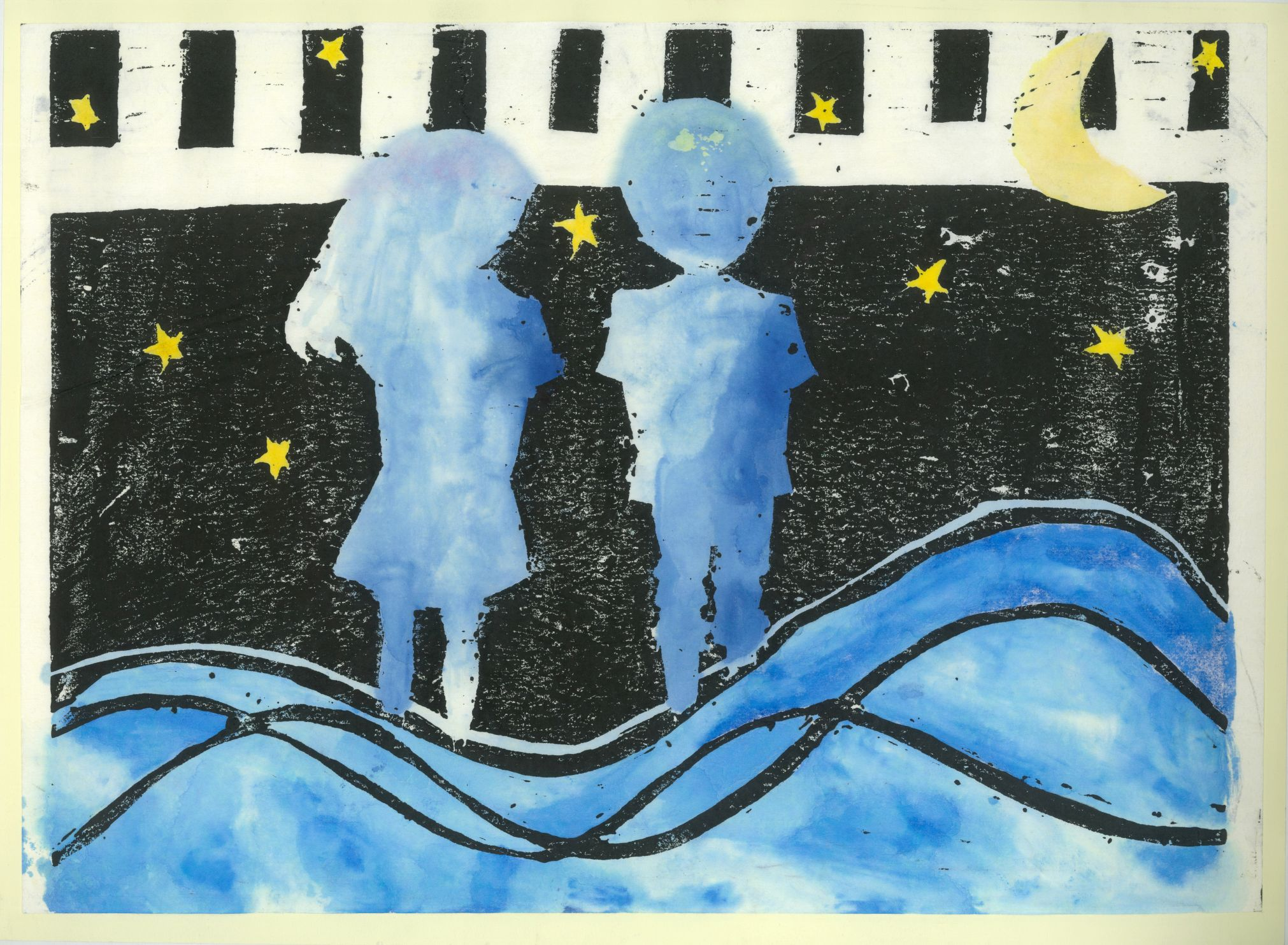 Nagoya Art Exchange – 131 – Ruri Ando – Night sky seen at the beach
