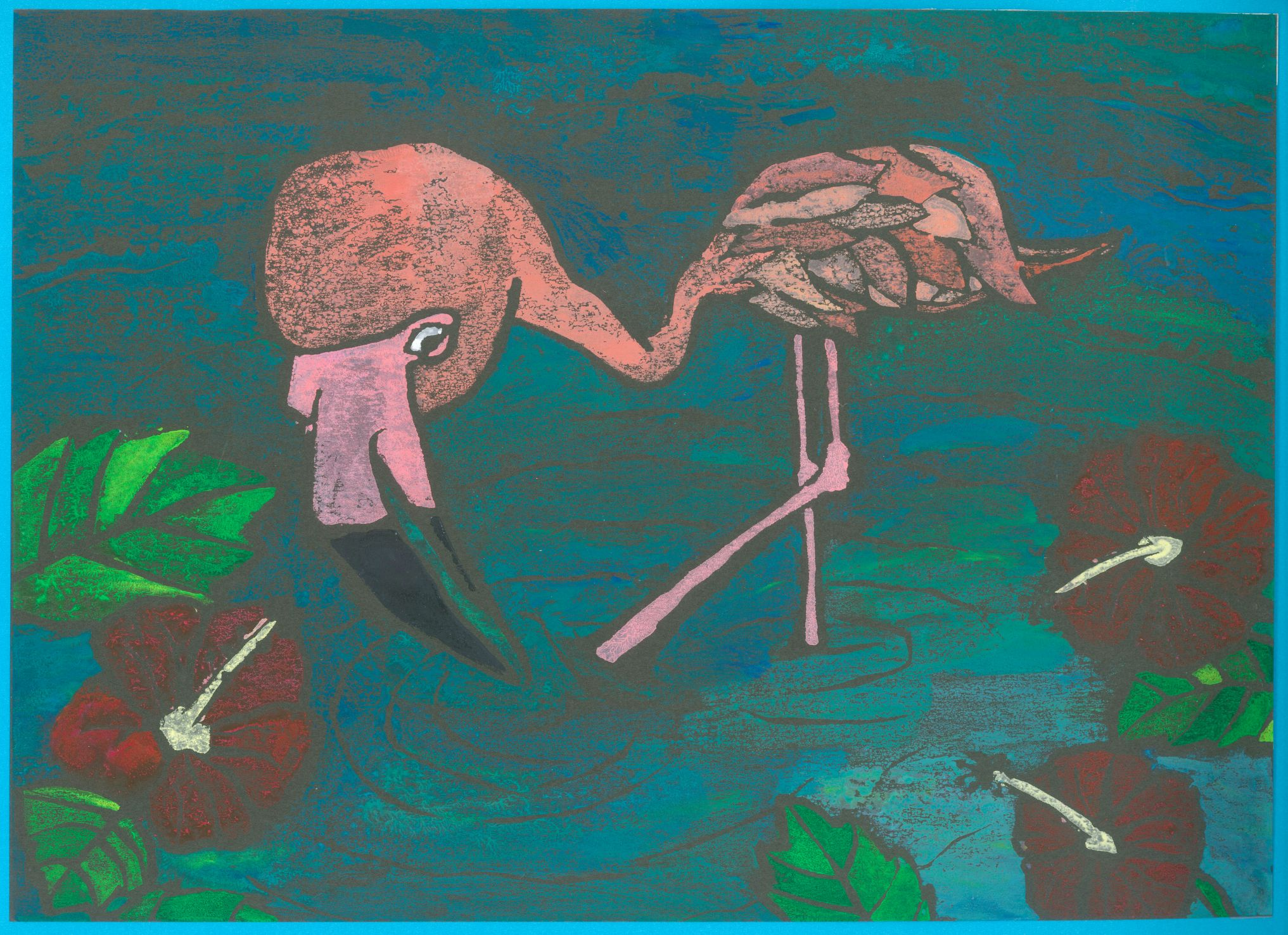 Dance floor for flamingo